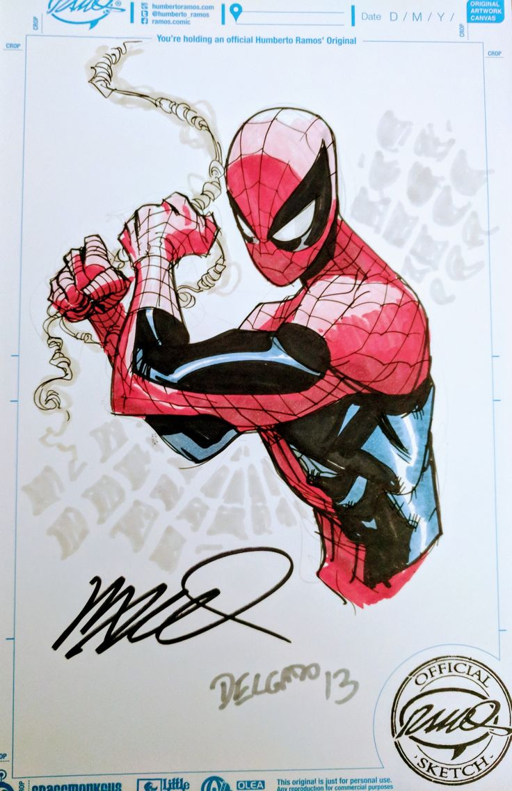 Spider-Man by Humberto Ramos #spiderman #humberto_ramos #sketch