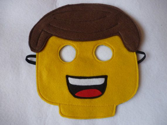 Hand finished Yellow man mask/toy/dress up/costume for children on Etsy, $10.31