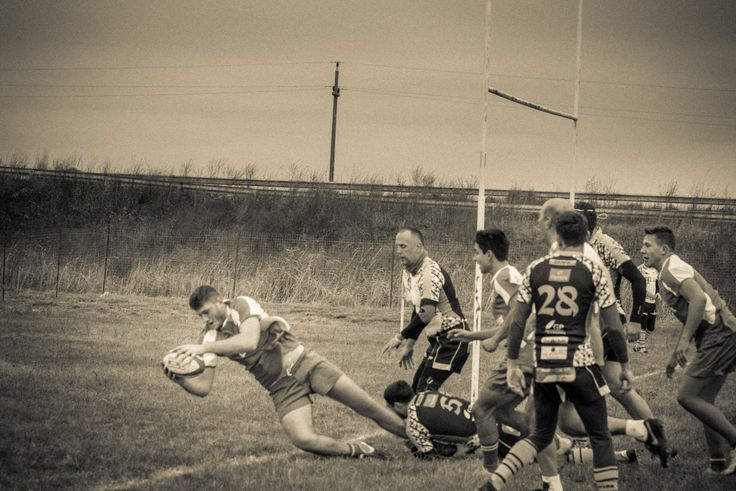 rugby , action , grayscale