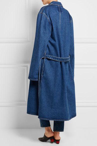 Balenciaga - Belted Denim Coat - Indigo
