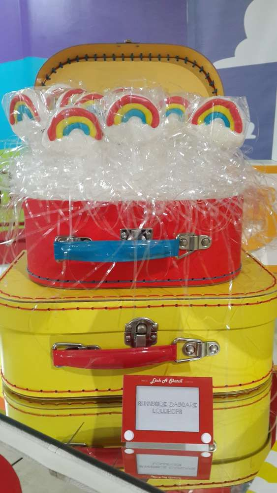 Sunnyside Daycare lollipops at a Toy Story birthday party! See more party ideas at CatchMyParty.com!