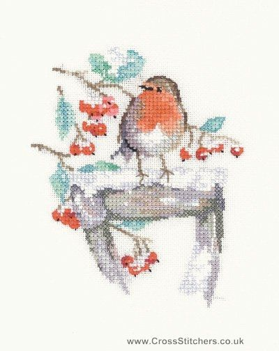 Watching - Robin - The Sue Hill Collection Cross Stitch Kit from Heritage Crafts