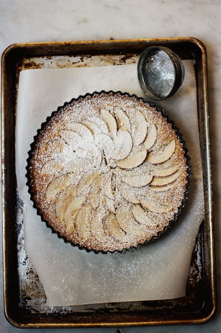 Check out this beauty -- apple frangipane tart from www.apt2bbakingco.com