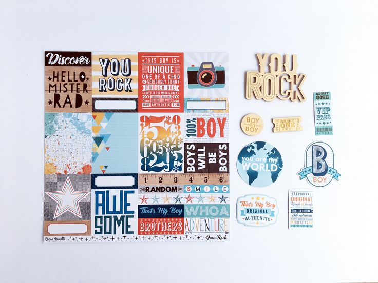 You Rock collection from Cocoa Vanilla Studio. Cool boy scrapbook paper available in Canada at my online scrapbook store.