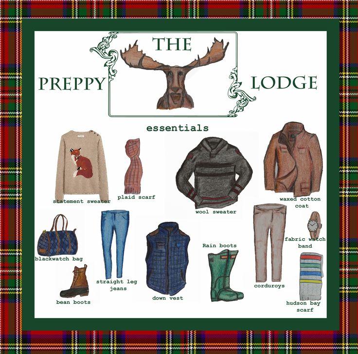 Preppy lodge look essentials. Simple and cozy! By Hampton Ivy