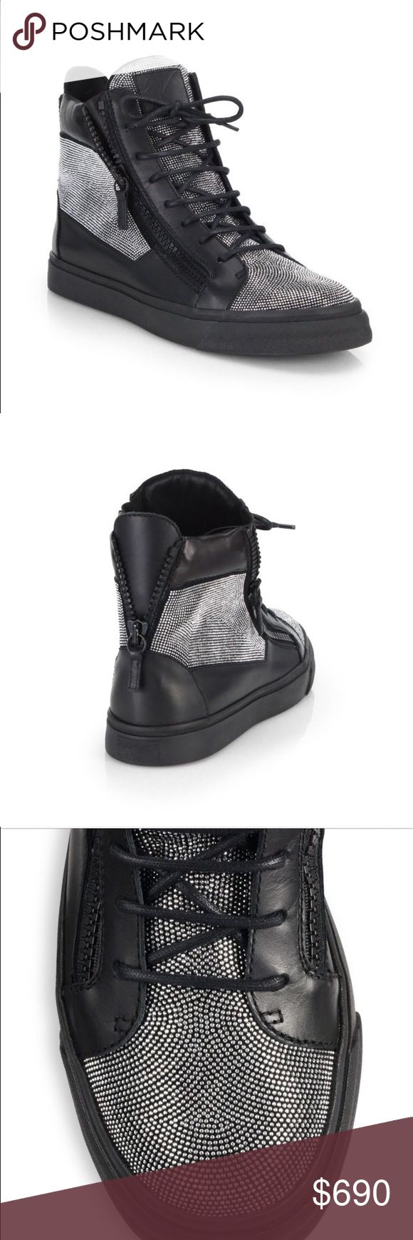 Gorgeous Giuseppe Zanotti high top sneakers If you like fashion, this is a must have. This is an amazing pair that will get you compliments from everyone who see's them on you. Giuseppe Zanotti Shoes Sneakers