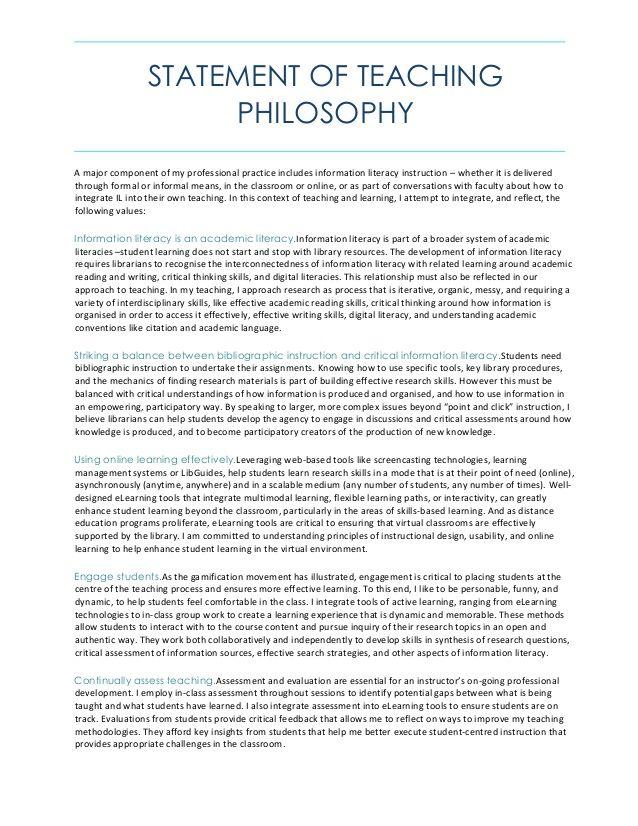 Statement Of Teaching Philosophy Teaching Statement Teaching Portfolio Teaching Philosophy