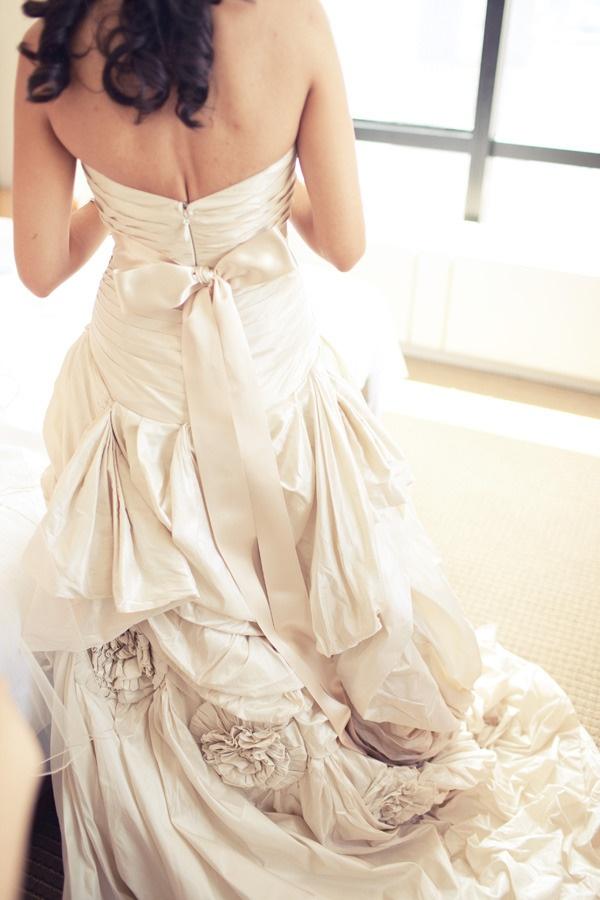 Anne Barge wedding gown.