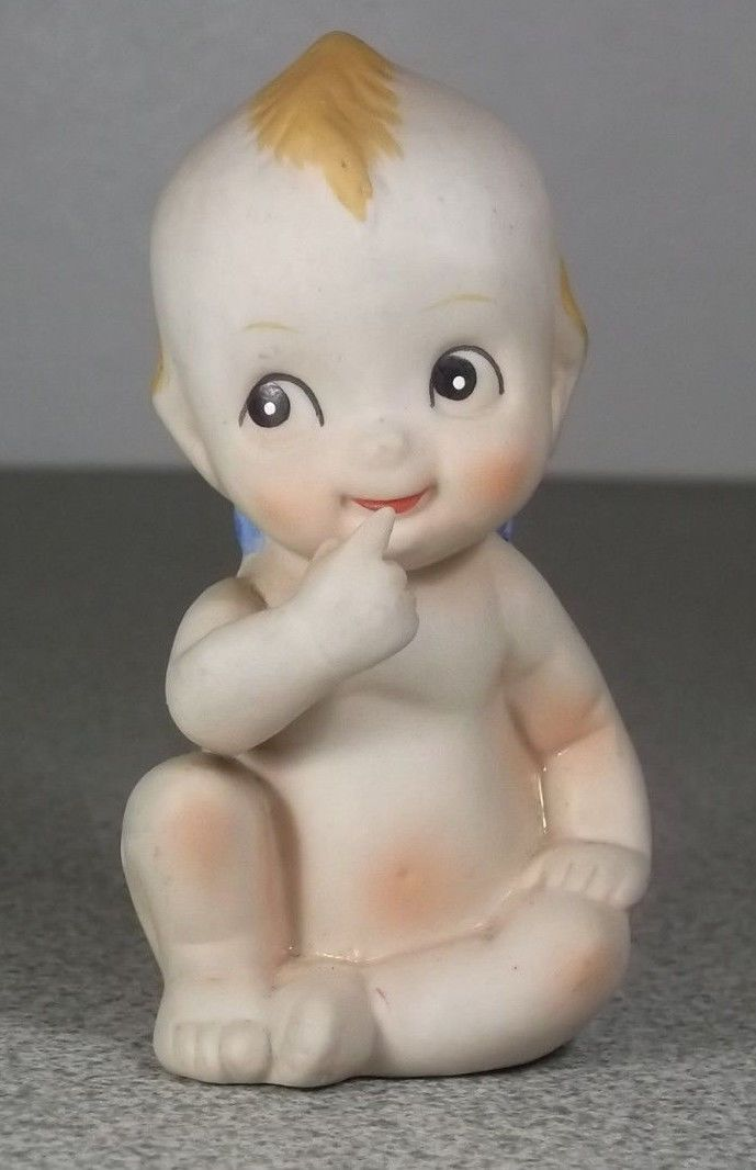 Baby Dolls Video Cartoon Antique Vintage Porcelain Bisque Blue Wing Kewpie Doll