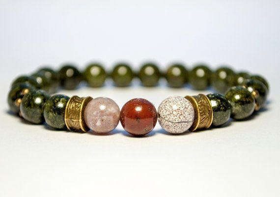 Браслеты для мужчин, браслеты мужские, браслет из бисера, зеленый браслет, браслет Gemstone, Mens Мала, зеленый драгоценный камень, Каменный Браслет