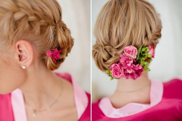 Ein wunderschöner Farbakzent für Bräute, die die Farbe Pink lieben!