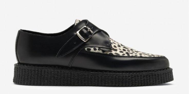 Hacienda Black Leather/Leopard Print