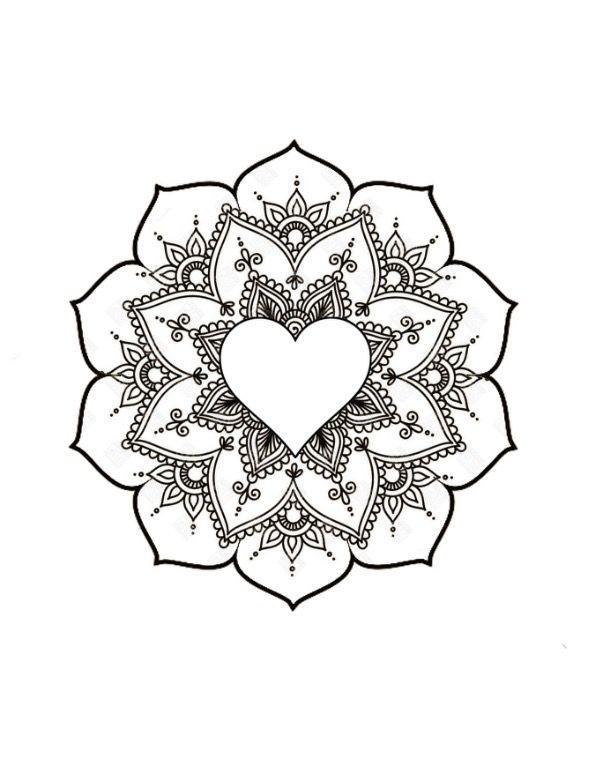 Heart-mandala-solar plexus-tattoo