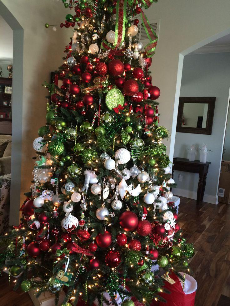 Chevron ish striped Christmas Tree