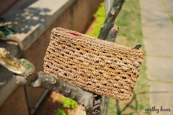 Banana fibre hand crocheted Purse