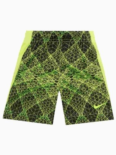 Nike Dri-Fit Little Boys Silky Yellow & Black Athletic Shorts with Pockets 4