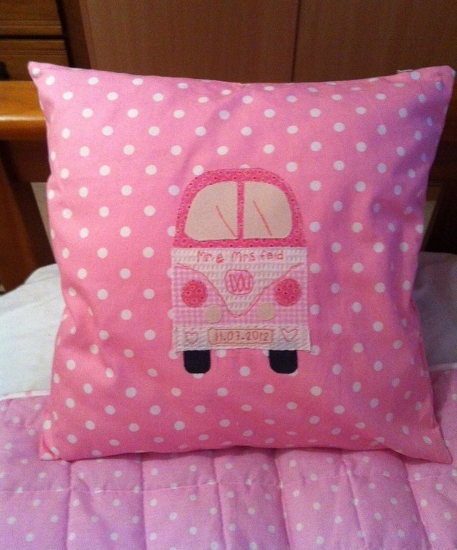 Personalised Wedding cushion with name  £14.50