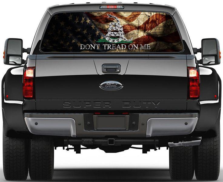 Gadsden USA Old Flag Don't Tread On Me Rear Window by ArtVint