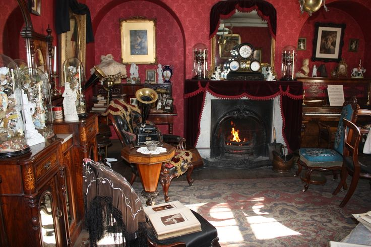 The front parlour at the home of the music teacher in Beamish's 1900s Town, County Durham, UK