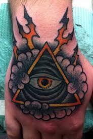 Inspiration de tatouage Eye Triangle. Trouvez le meilleur tatoueur près de chez vous avec à www.allotattoo.com ! #Eye #Tatoo #Tatoué #Geometric #Géométrique #Tatouage #Triangle #Oeil