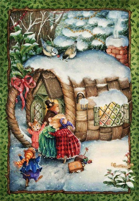 Уютная страна зверюшек! Иллюстратор Susan Wheeler.