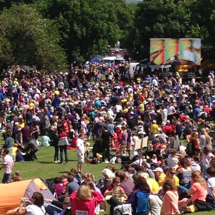 At Le Tour De France 2014, Ilkley Hub. Le Tour Yorkshire. www.thecoffeecamper.com