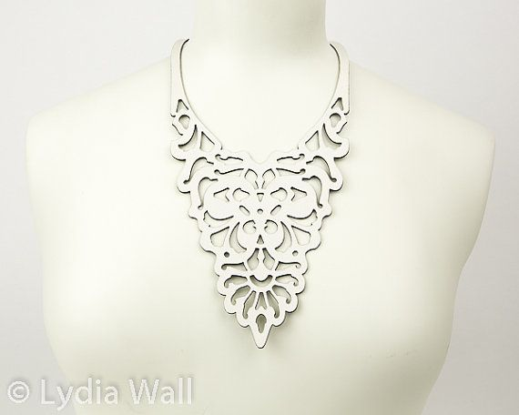 Laser Cut Leather Necklace