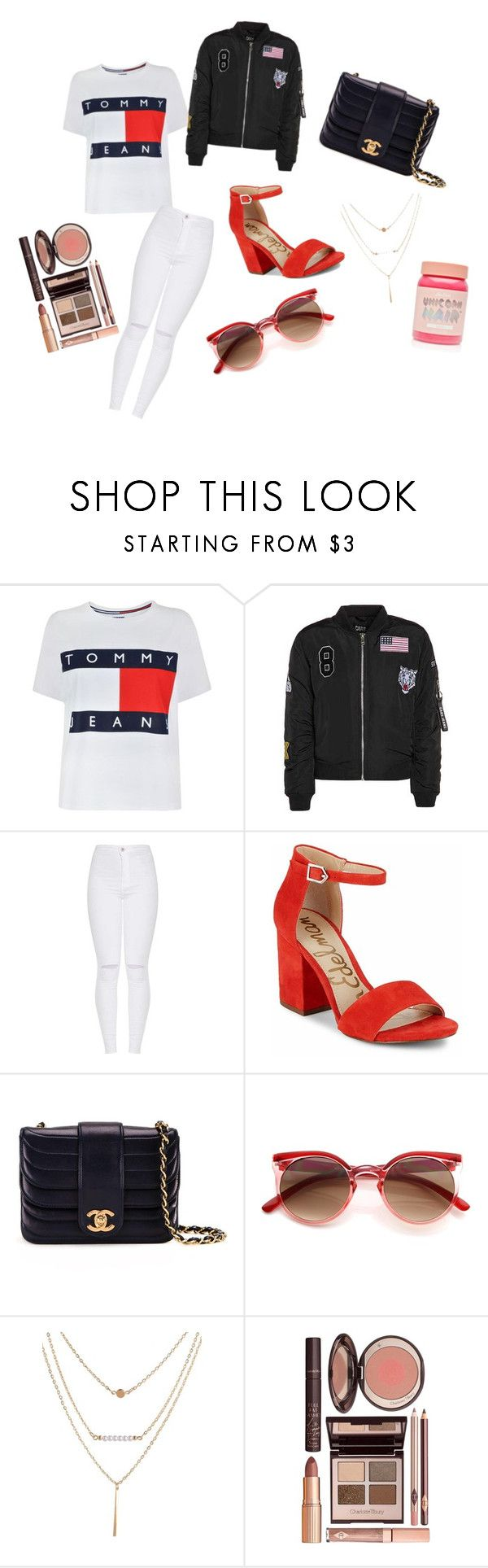 """Eeny meeny miny mo"" by maddy-lane235 on Polyvore featuring Tommy Hilfiger, Sam Edelman, Chanel, Charlotte Tilbury and Lime Crime"
