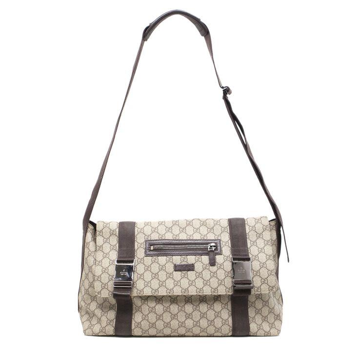 modaselle - Gucci GG Supreme Canvas Double Buckle Messenger Bag, CAD $575.00 (https://www.modaselle.com/gucci-gg-supreme-canvas-double-buckle-messenger-bag-ha01681/)