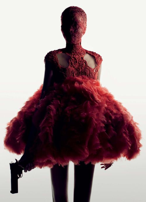 Alexander McQueen Spring 2012 photographed by Fabien Baron and David Burton for Interview, March 2012
