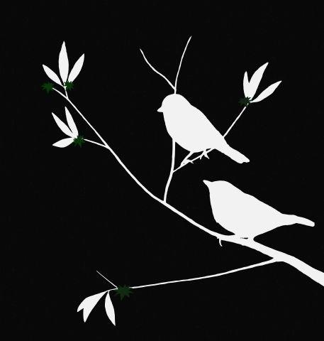 bird tree silhouette | Birds (silhouette)