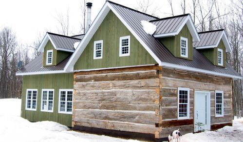 Pictures of log cabin additions reclaimed structures for Log home addition