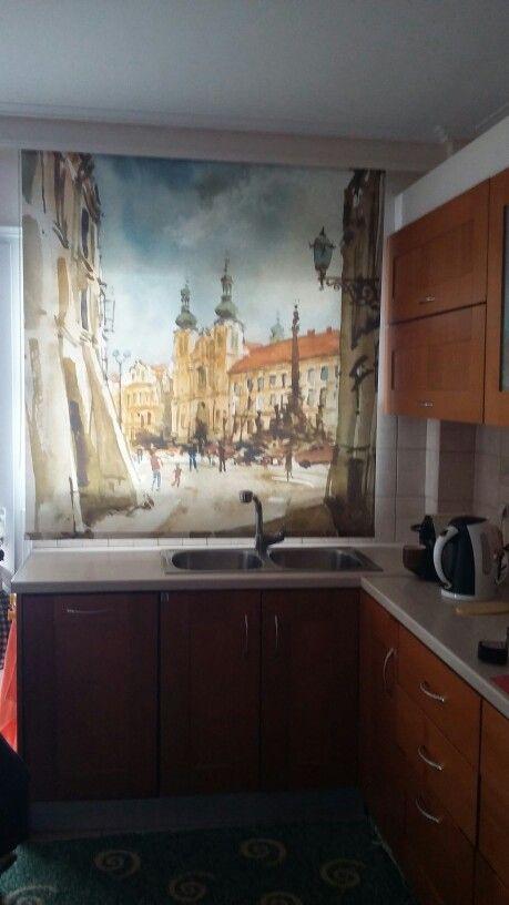 Ρολερ εκτύπωσης σε παραθυρο κουζίνας