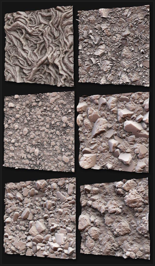 Texture and Shader - Zbrush and Mudbox Sculpts