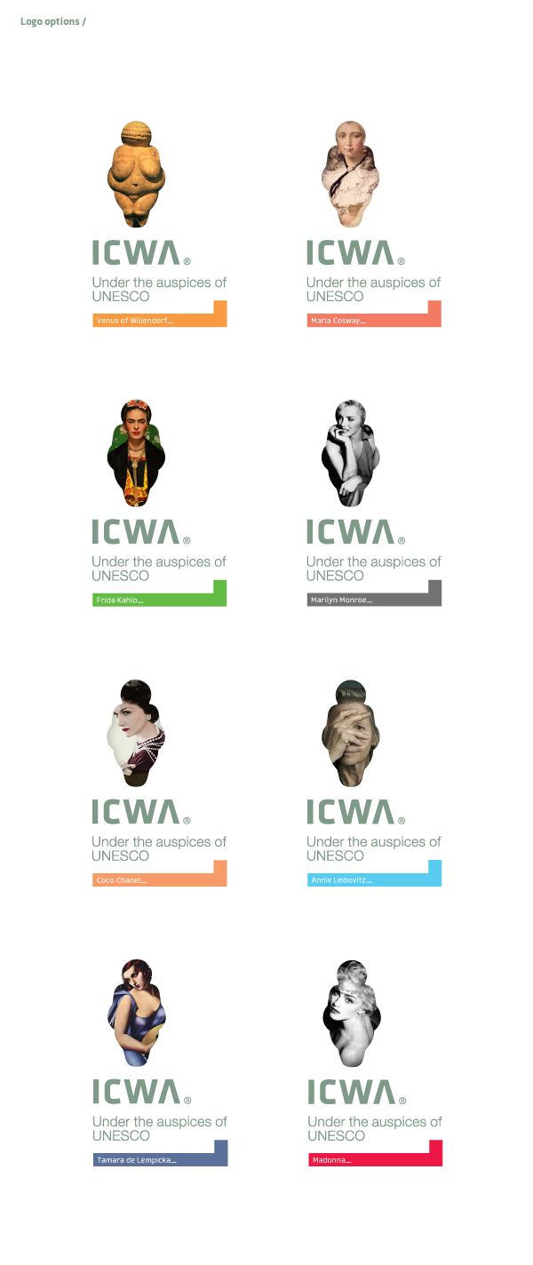 ICWA - International Center for Women Artists by Redkroft , via Behance