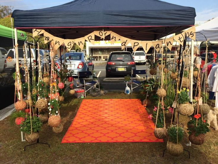 Our market stall Hang'n Round Plants