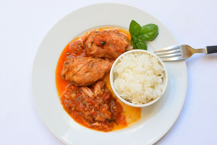 italian chicken with tomatoes and rice