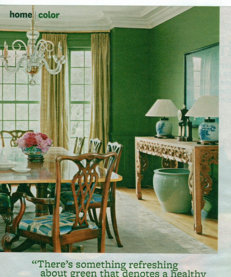 Green And Blue Dining Room Famille Rose Display Ideas