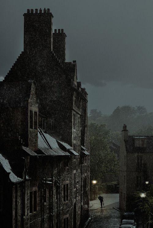 "Edinburgh, Scotland, at night - ""Jagged Walkways"" (by AndrewBHarris)"