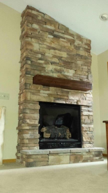 Kozy Heat Thief River Falls Fireplace With Dry Stack Stone And Custom