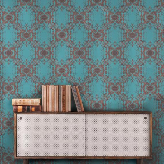 Designer Peel And Stick Wallpaper Inspired By Fortuny Marco Polo And Murano Glass Smithhonig S B Peel And Stick Wallpaper Damask Wallpaper Temporary Wallpaper