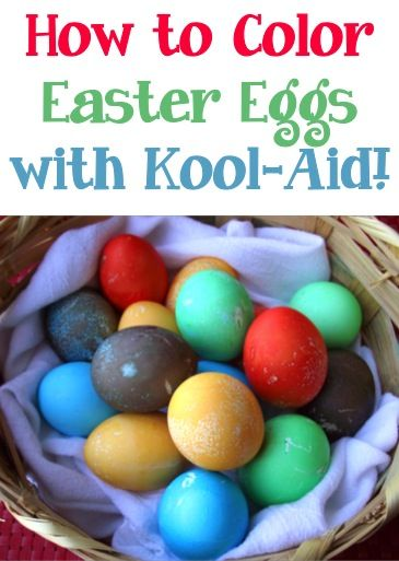 How to Color Easter Eggs with Kool-Aid! ~ you'll have so much fun getting great vibrant colors with this Easter Egg coloring technique! #eastereggs