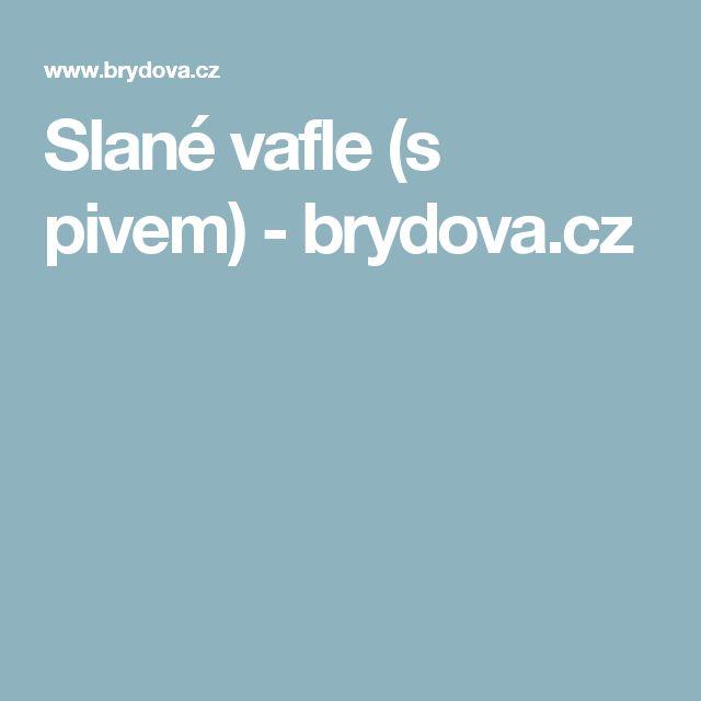 Slané vafle (s pivem) - brydova.cz