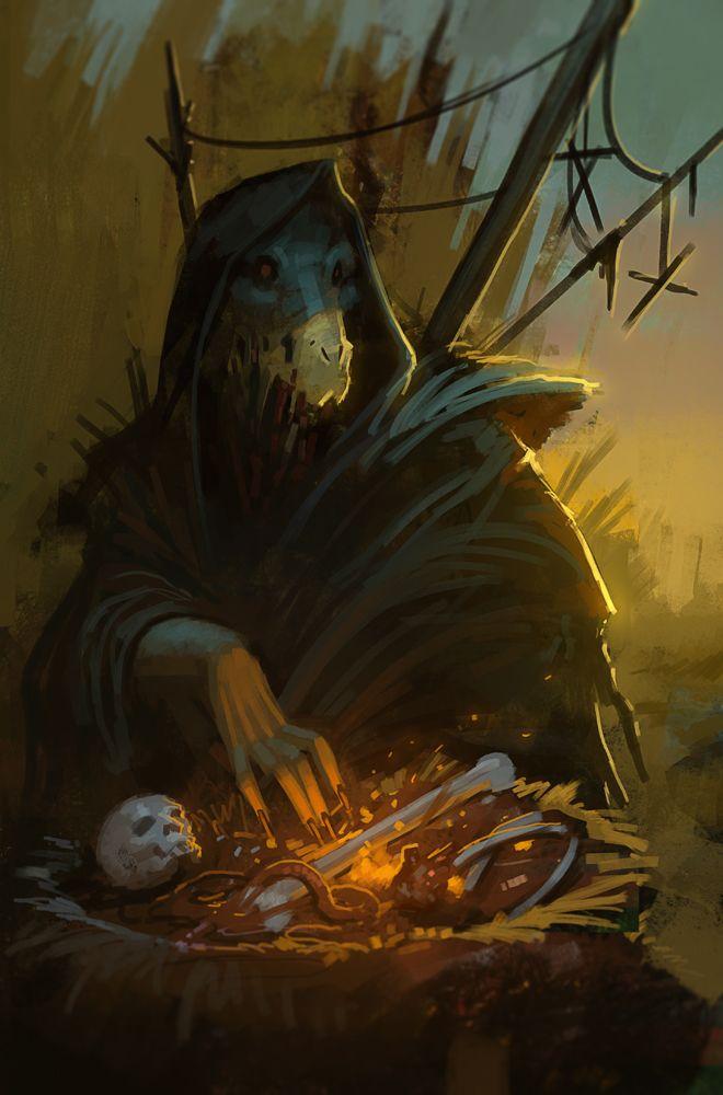 El ermitaño puede ser tipo asi pero con la otra máscara o este puede ser otro ermitaño
