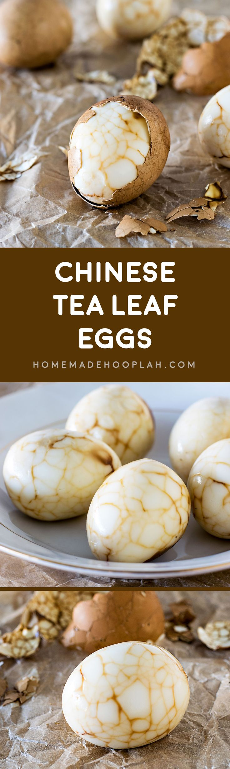 Chinese Tea Leaf Eggs! Celebrate Chinese New Year with this traditional dish, spiked with a touch of orange for good fortune in the year to come! | HomemadeHooplah.com #KikkomanCNY #spon @kikkomanusa