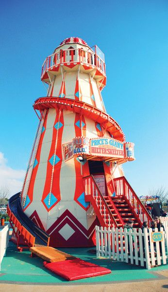 Helter Skelter at #BognorRegis and #Minehead for a whole lot of sliding fun! #Butlins