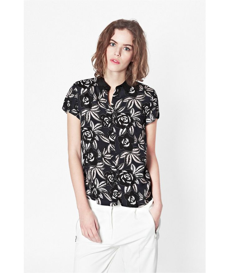 French Connection Argan Rose Floral Blouse