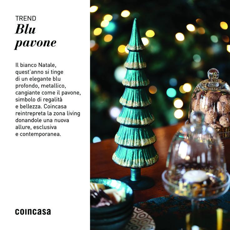 Il bianco Natale, quest'anno si tinge di un elegante blu profondo, metallico, cangiante come il pavone, simbolo di regalità e bellezza. Coincasa reintrepreta la zona living donandole una nuova allure, esclusiva e contemporanea. Scopri il nuovo trend su www.coincasa.it/?utm_content=buffer157fd&utm_medium=social&utm_source=pinterest.com&utm_campaign=buffer