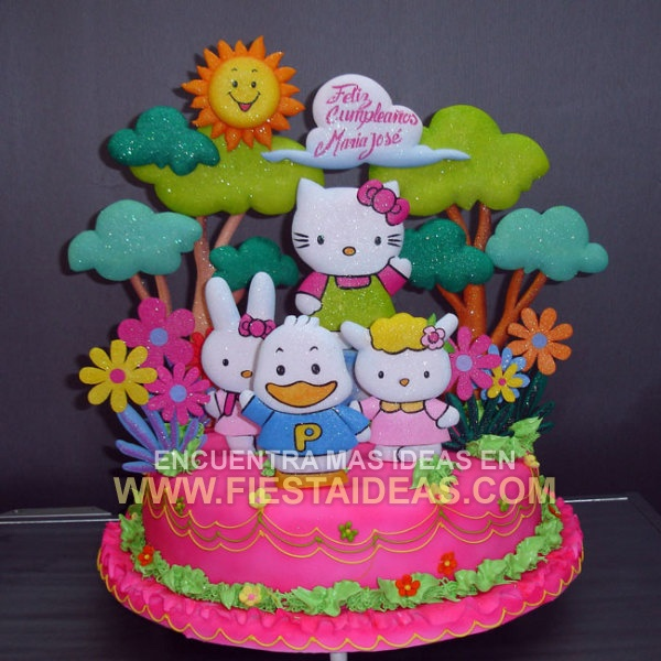de Torta Hello Kitty 1 Torta de Cumplea?os cake ideas de decoracion