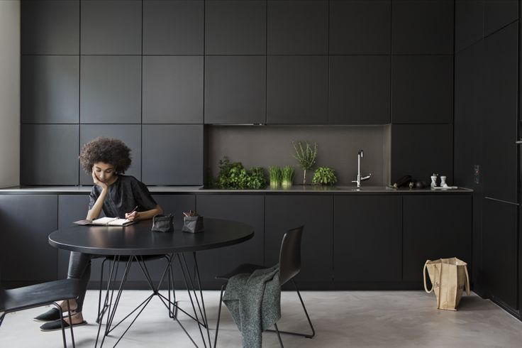 D Design blog | daily inspiration at droikaengelen.com : Black kitchen